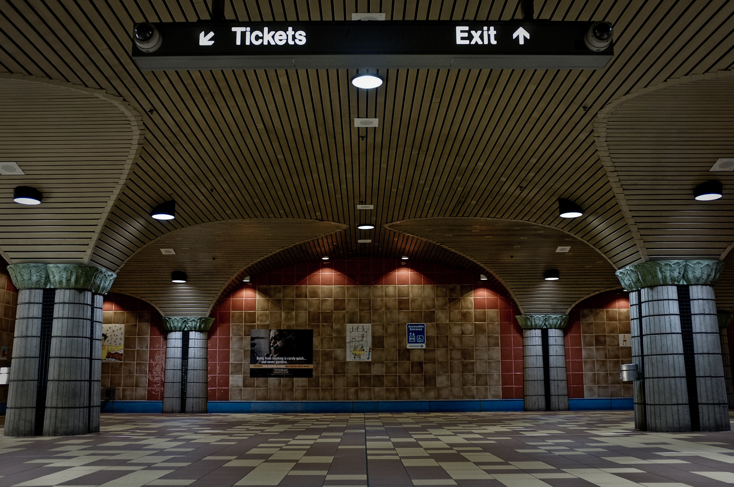 Shot at the Hollywood and Vine Metro station in Los Angeles.