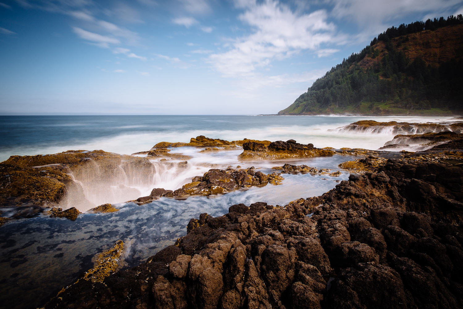 Thor's Well - Cape Perpetua, Oregon Coast. One of my last shots with the X-Pro1 and XF 14mm.