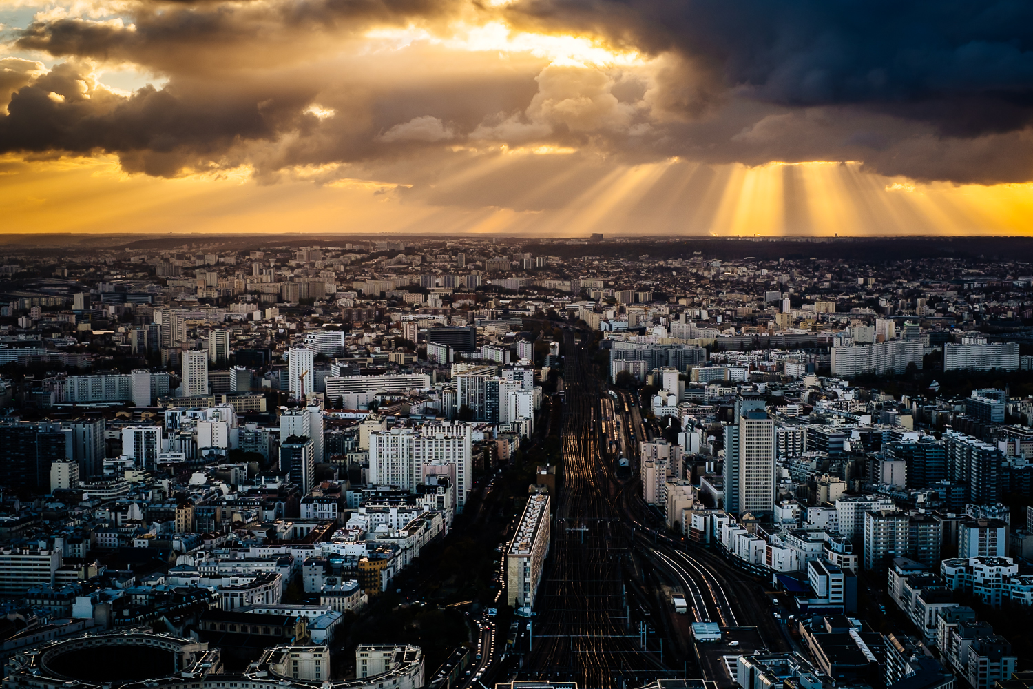 View from the terrace at Montparnasse Tower