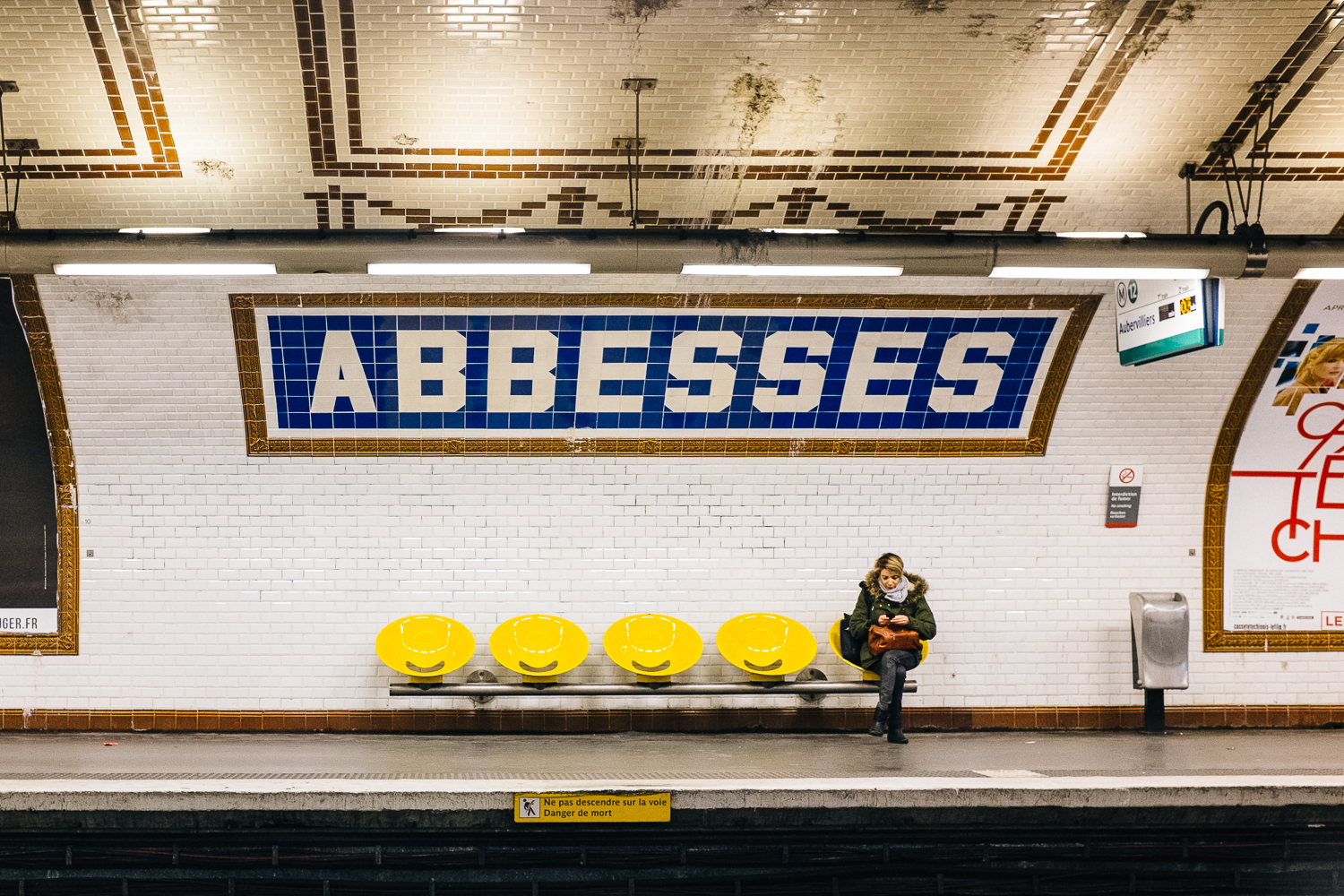 Abbesses Metro station - Paris