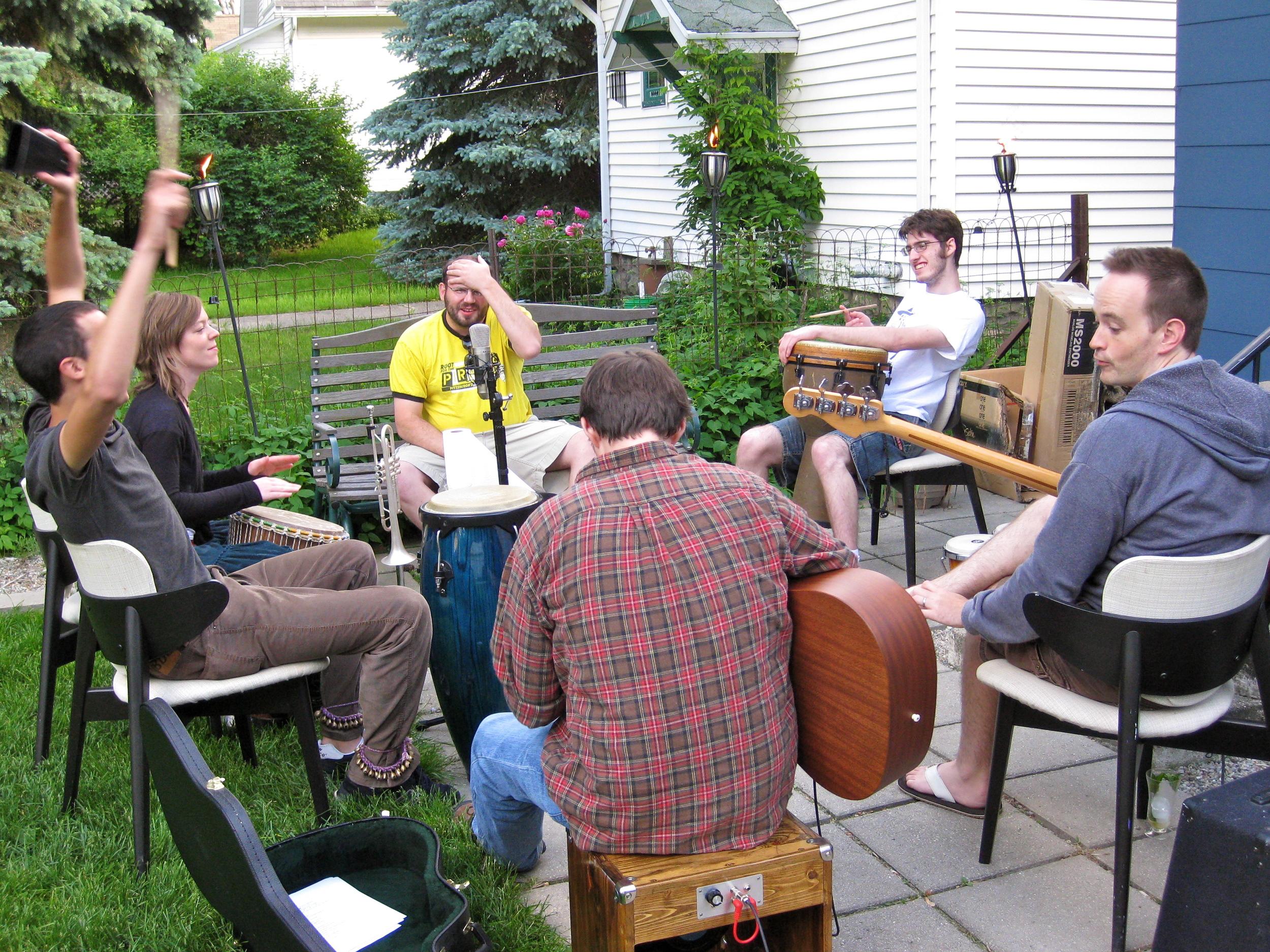 Backyard rehearsal