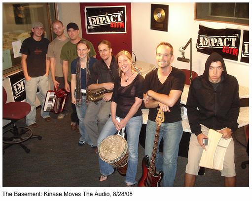 In studio at Impact radio