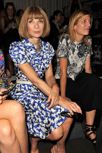 The queen herself Anna Wintour attending the Rag & Bone Show.