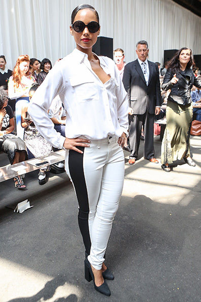Singer, Song Writer, Mother Alicia Keys Attending The Edun Show