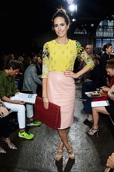 Fashionista Louise Roe attending the DKNY Show