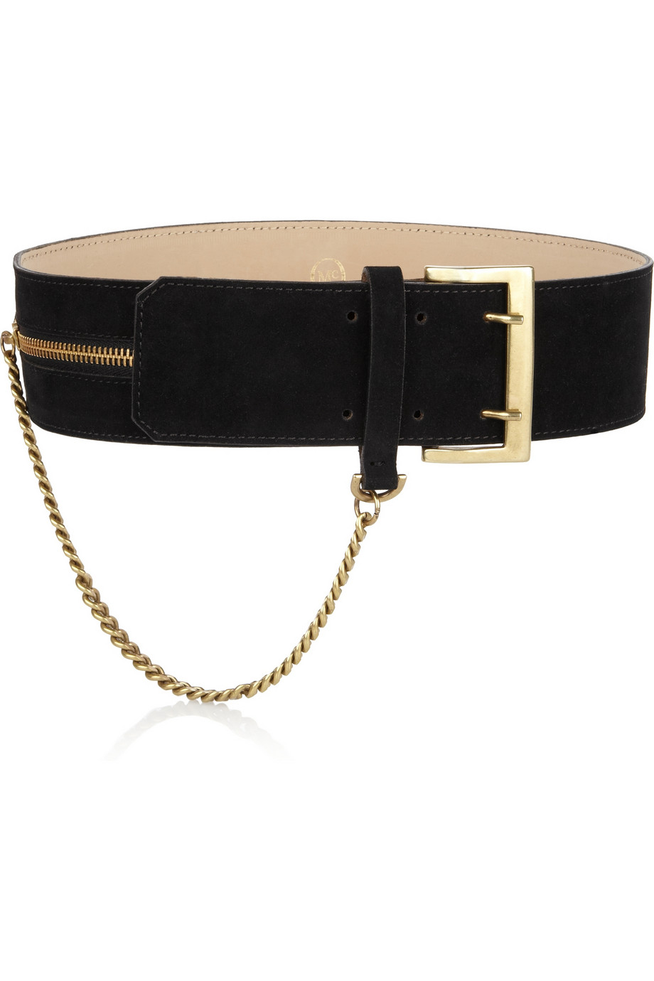 McQ Alexander McQueen  Chain and velvet waist belt $305