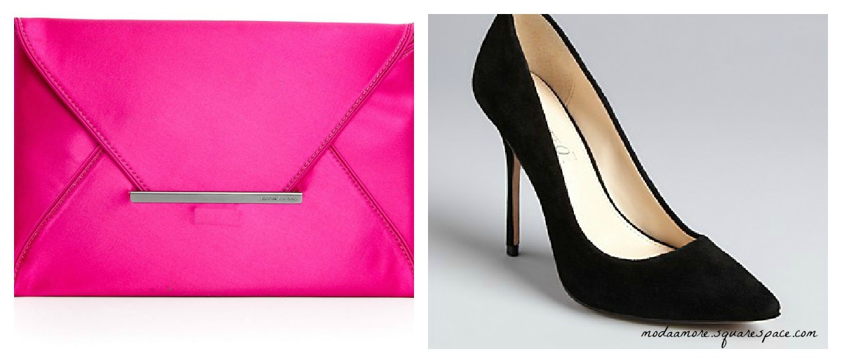 Macys BCBG MAXAZRIA Clutch Fuchsia $78   Boutique 9 Pointed Heel at Bloomingdales $120