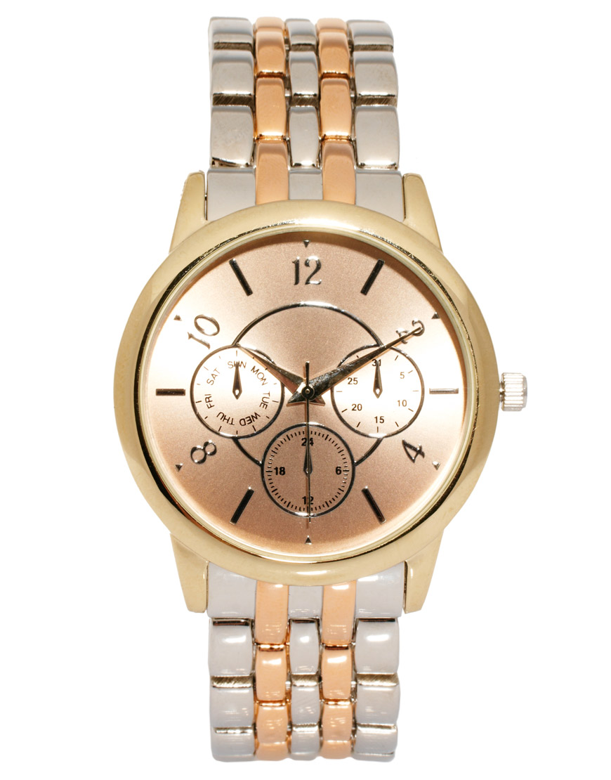 ASOS.COM Mixed Metal Boyfriend Watch $52.77