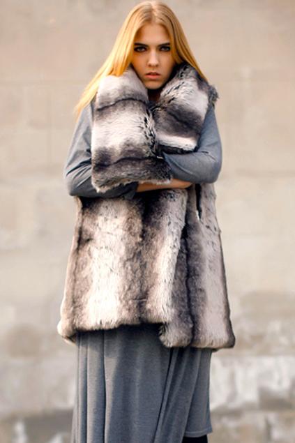 Faux Fur Coffee Vest $255  Romwe.com