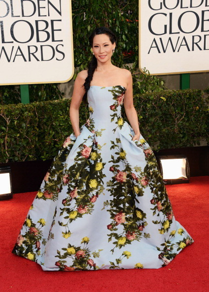 Lucy Liu Dress By Carolina Herrera