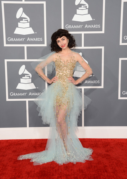 Kimbra was wearing a design by Jaime Lee Major.