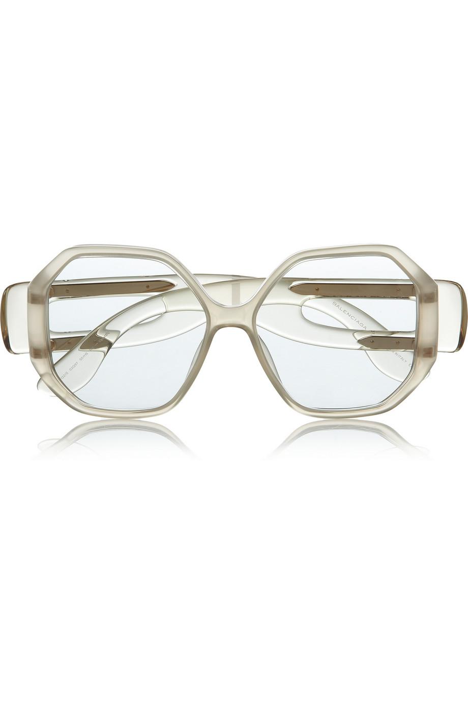 Balenciaga square-frame acetate sunglasses  Original price$451  Now $157.85 THEOUTNET.COM