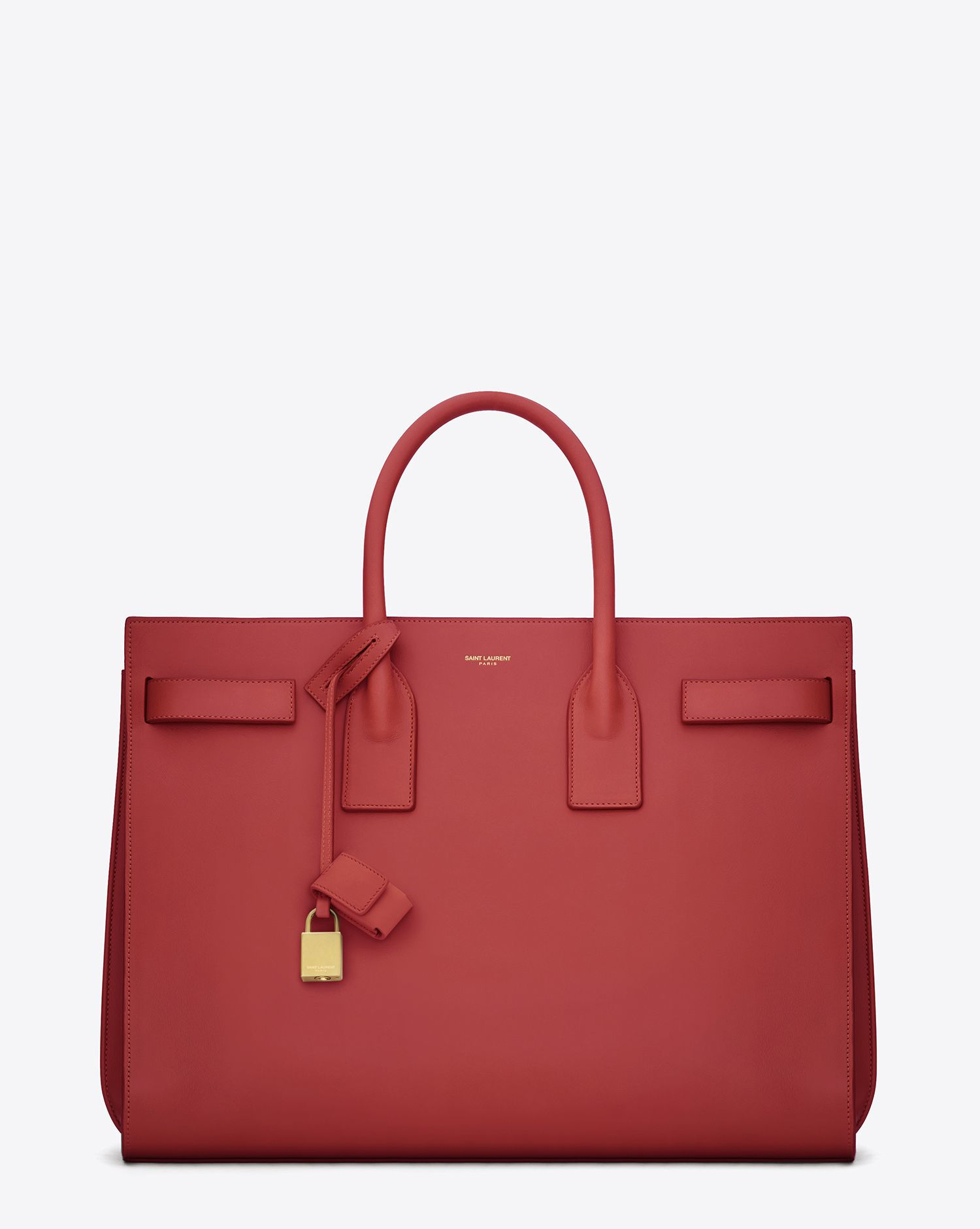 Saint Laurent Classic Sac De Jour Red Leather. Price:$2,950 YSL.COM
