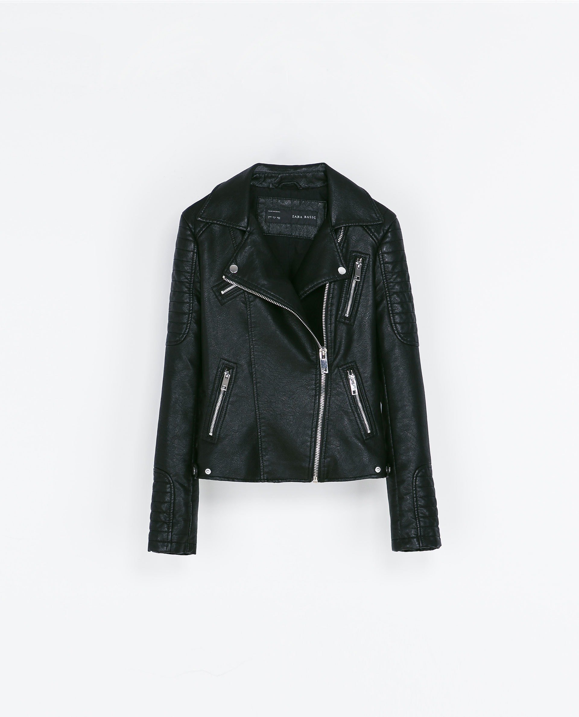 Motorcycle Jacket With Zips. Price:$119 ZARA.COM