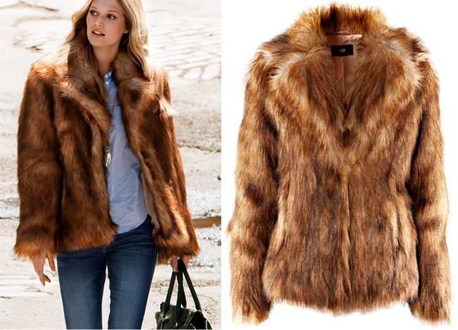 H&M Faux Fur Jacket. Price:$69.95 H&M.COM
