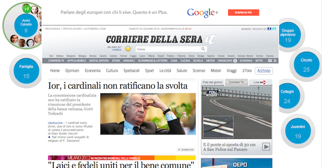 Corriere Google+.png