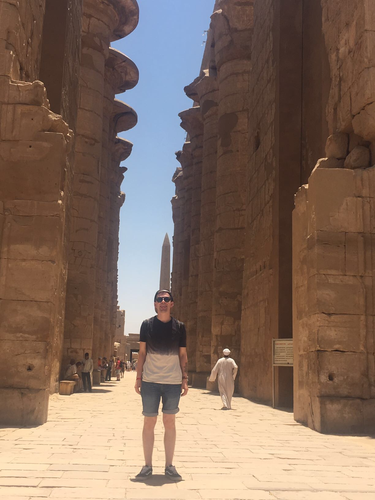 Me at the Karnak Temple, smiling really badly for a picture - not caring about my digital life.
