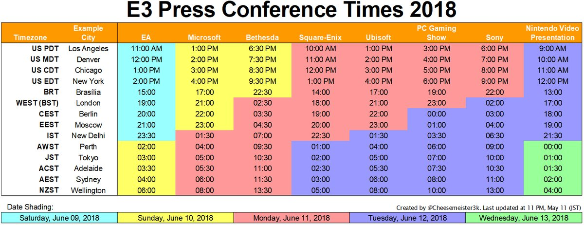 Click to expand this handy schedule, courtesy of  Cheesemeister  on Twitter!
