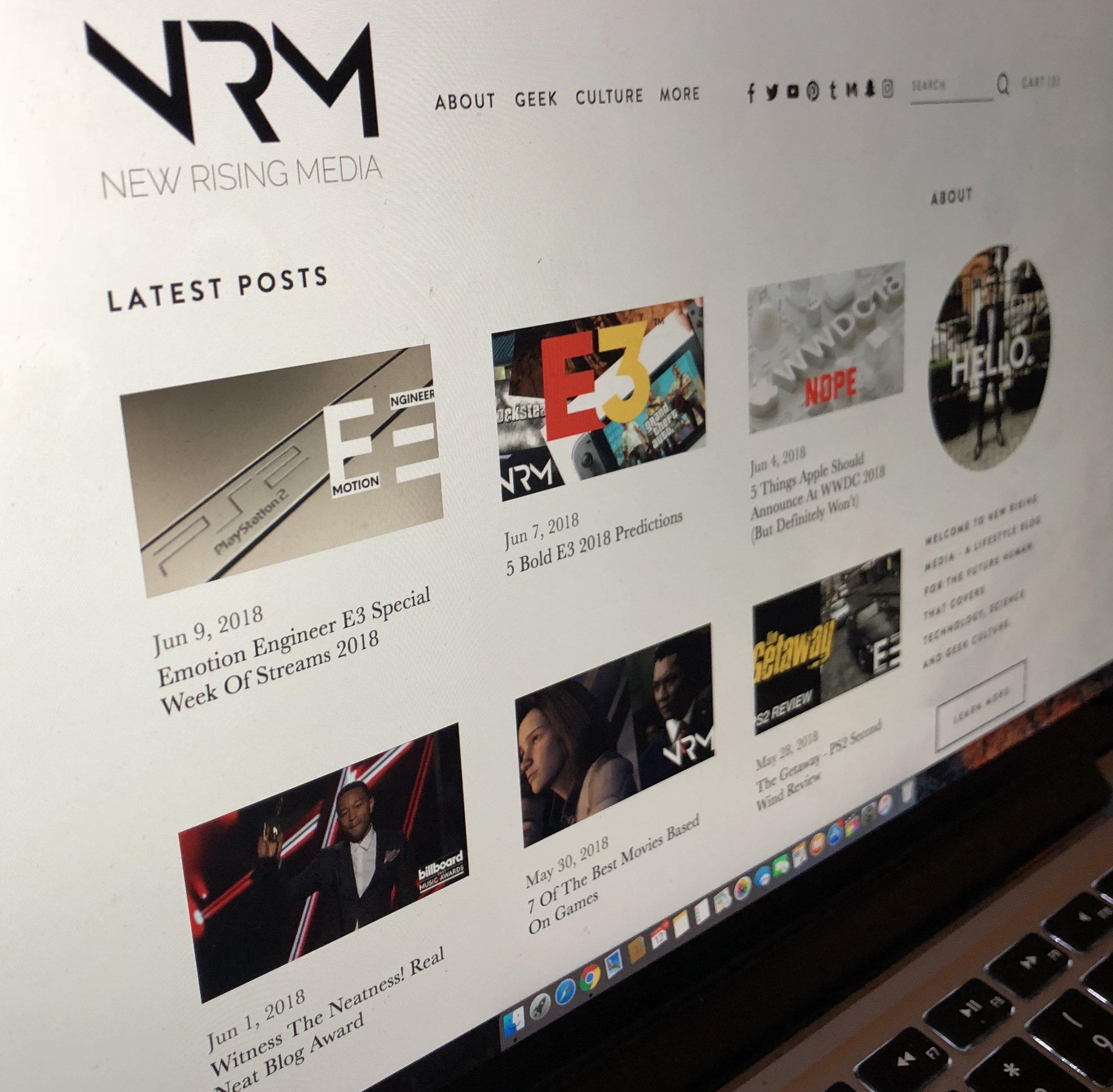 new rising media new website design