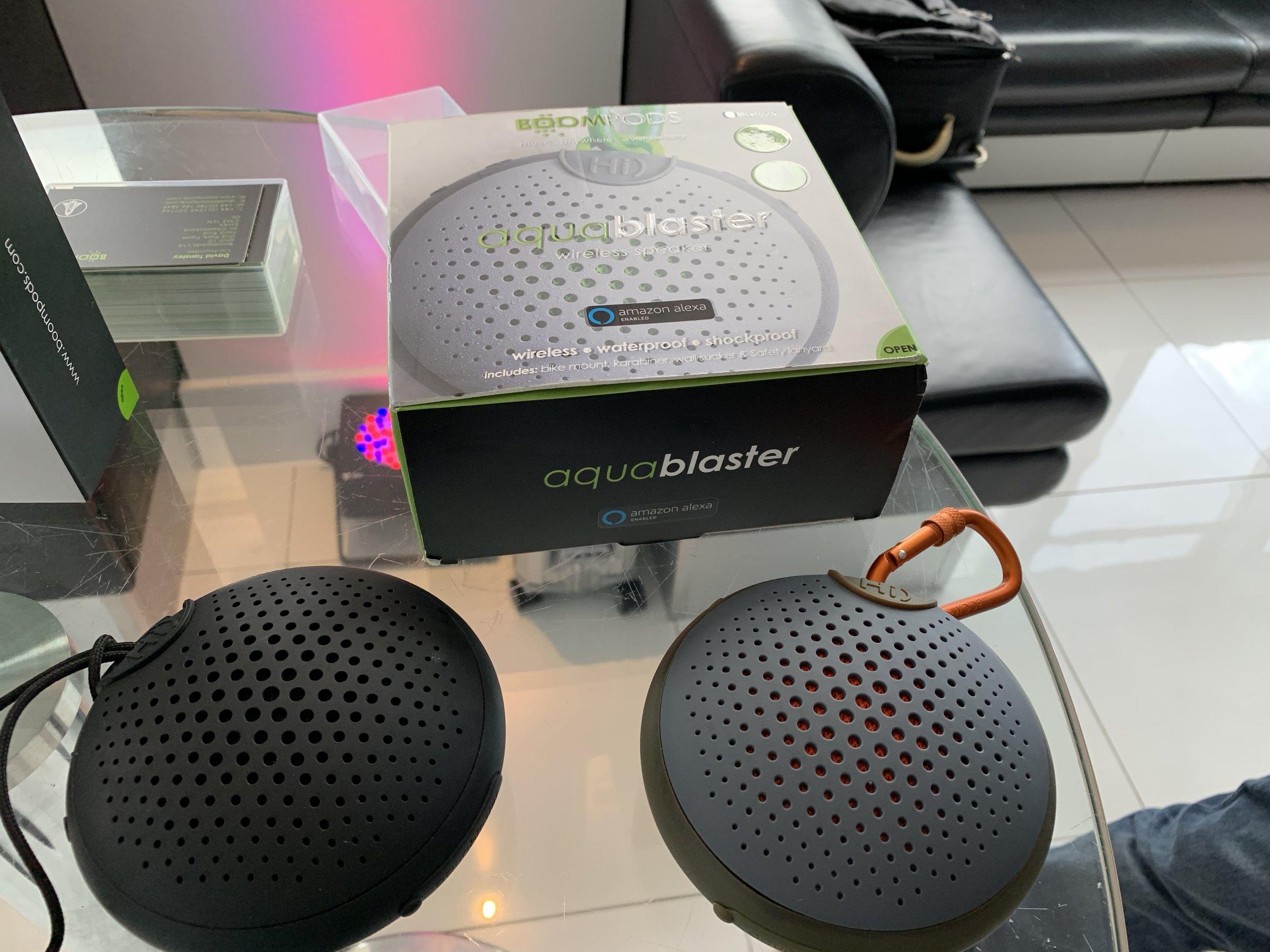 BoomPod's Aquablaster bluetooth speaker comes packed with Alexa