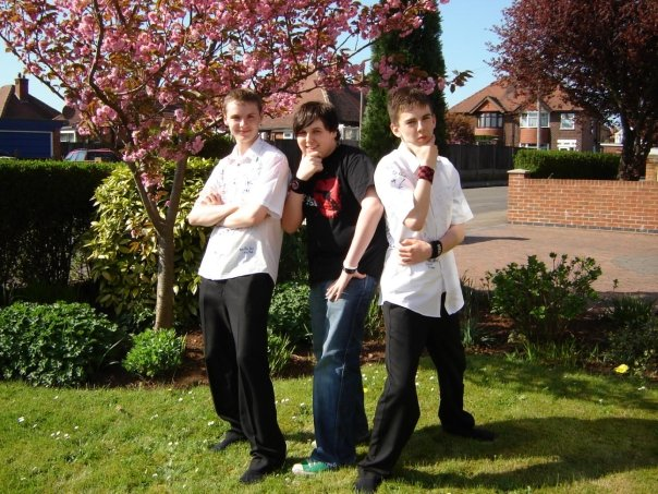 That's me on the right, too cool for school on my last day - 2006…