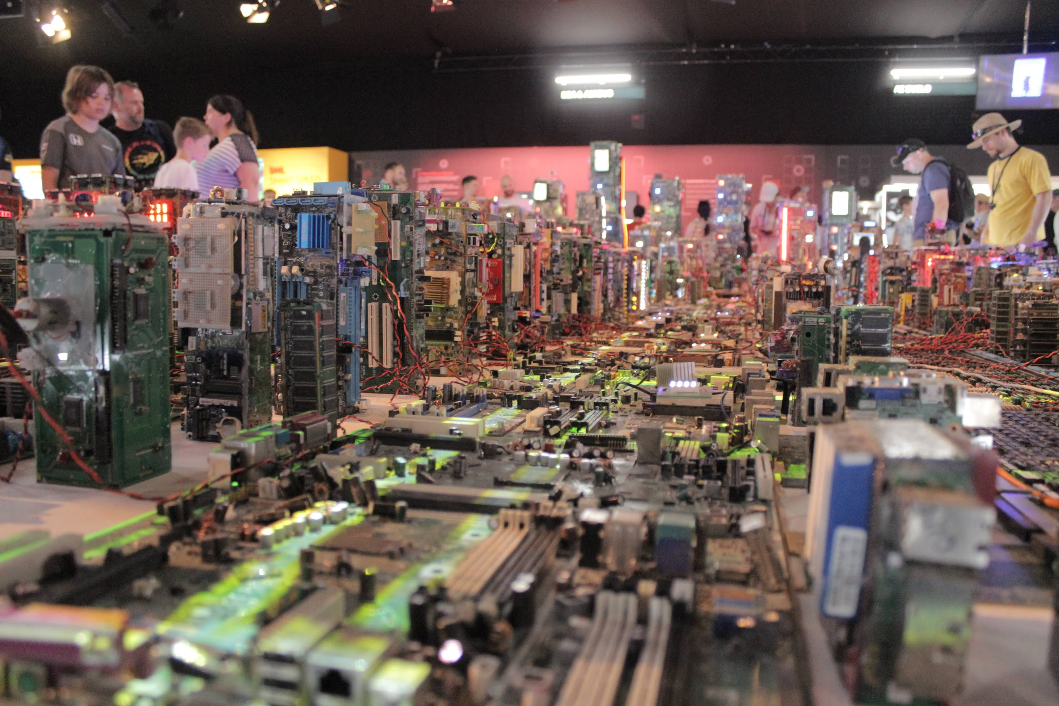 An entire cityscape made of computer chips…