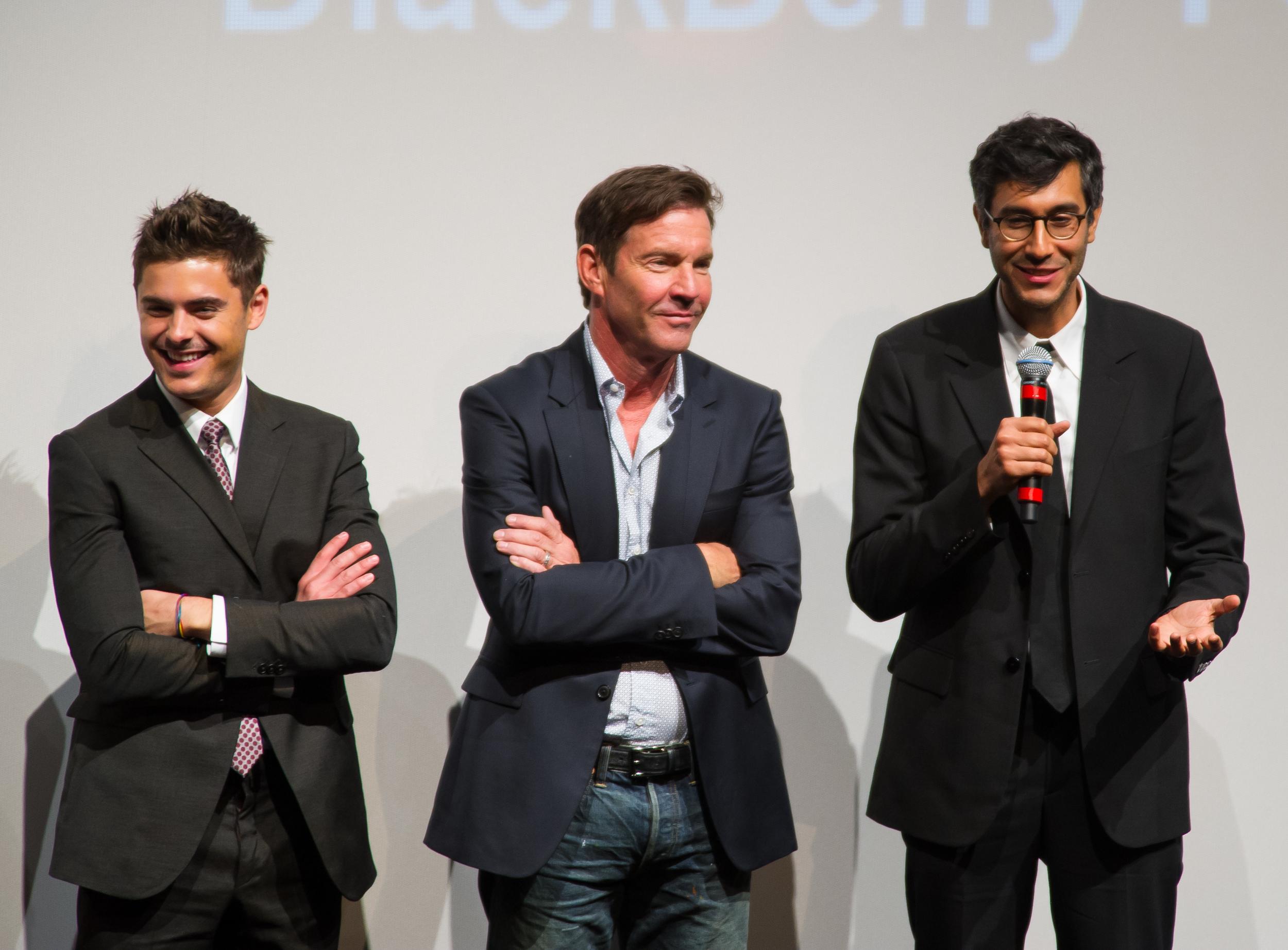 Zac Efron, Dennis Quaid, Ramin Bahrani