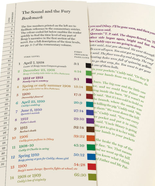 Bookmark has a key to the date for each color of print