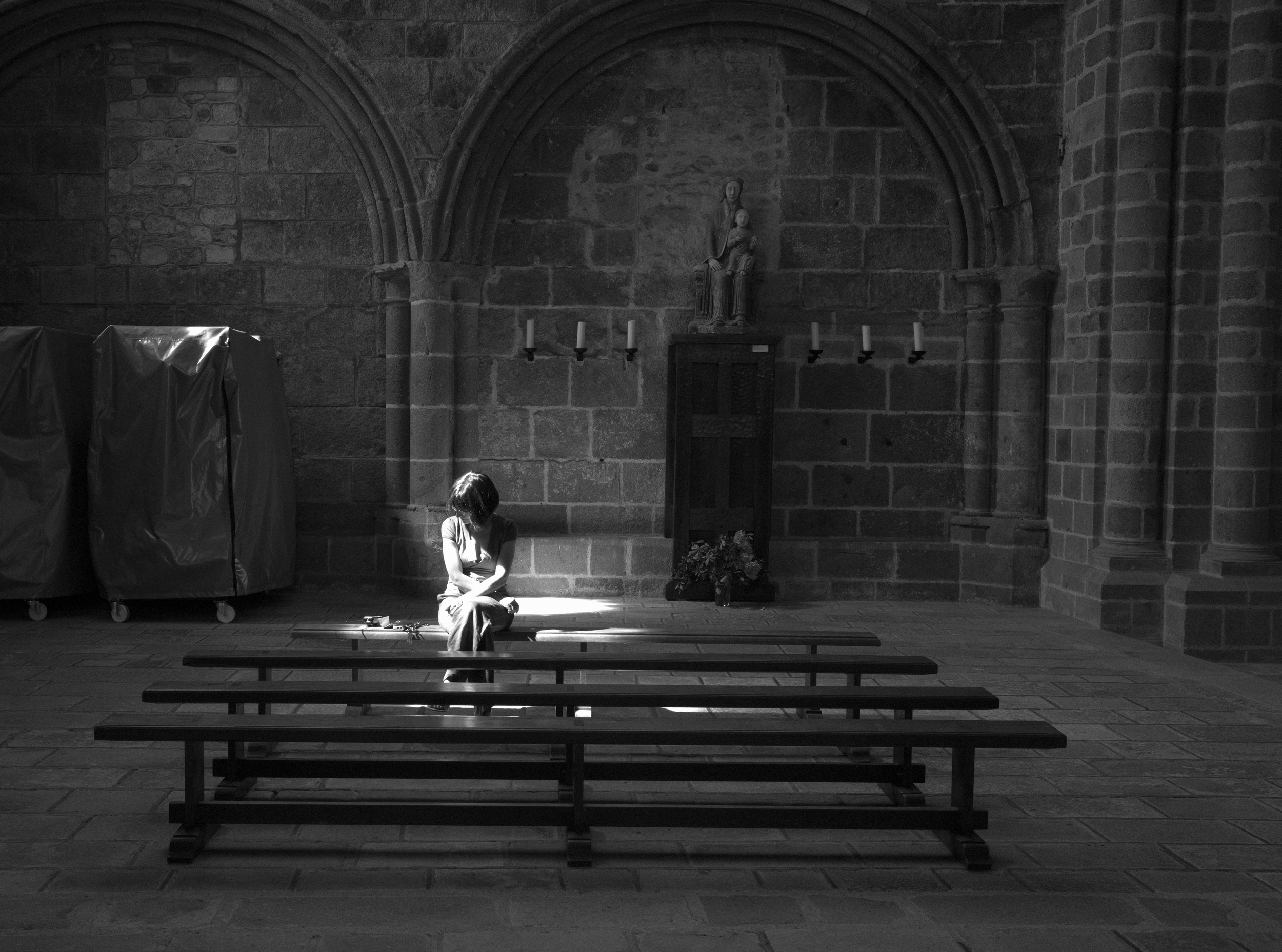 In the abbey at Mont St-Michel