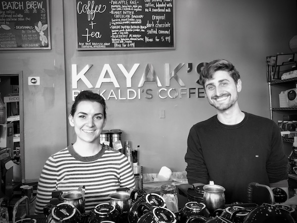 Louisa and Brendan = perfect baristas.
