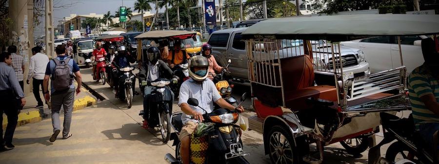 Phnom Phen fully awake.