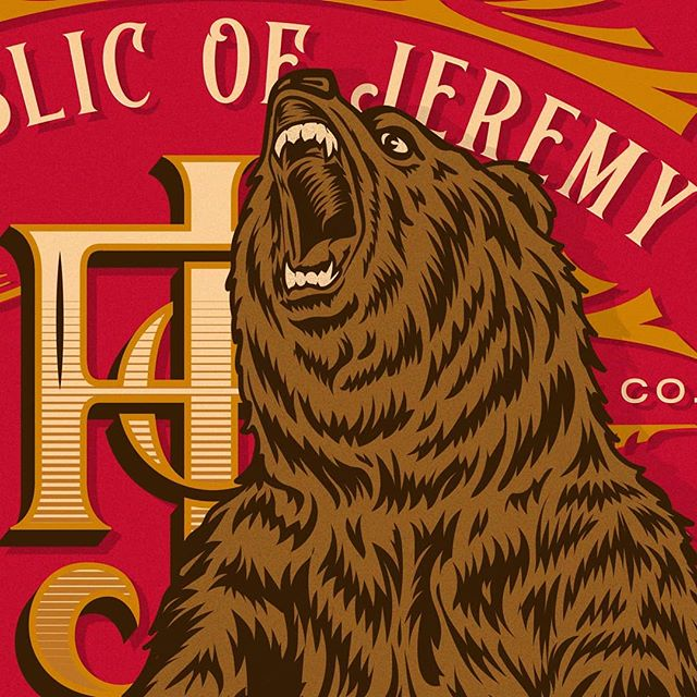 So excited for this weekends release of the work I did for @jeremywineco and the @the_republic_of_jeremy brand label. This one's for those who may be intimdated about diving into wine culture and just want a damn good glass of wine without having to know if they're drinking from the correct glass or if they can pick up on all the notes of the wine. Order yours online or stop by their tasting room in downtown Lodi!  #republicofjeremy #jointherepublic #ROJ #lodiwine #downtownlodi #iknowjeremy #winebrands #winebranding #lettering #illustration #dontpokethebear🐻