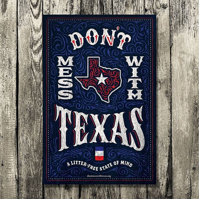 Official limited edition poster done for @dontmesstexas and the #dontmesswithtexas campaign! All my family and friends out in TX be sure to keep an eye out for these!