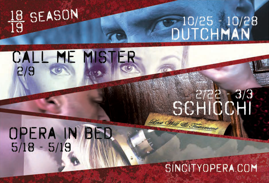 Promotional Material: Sin City Opera 2018-2019 Season