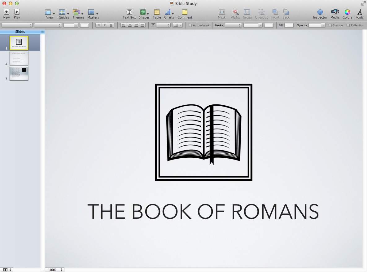 Insert Symbols into your presentation software
