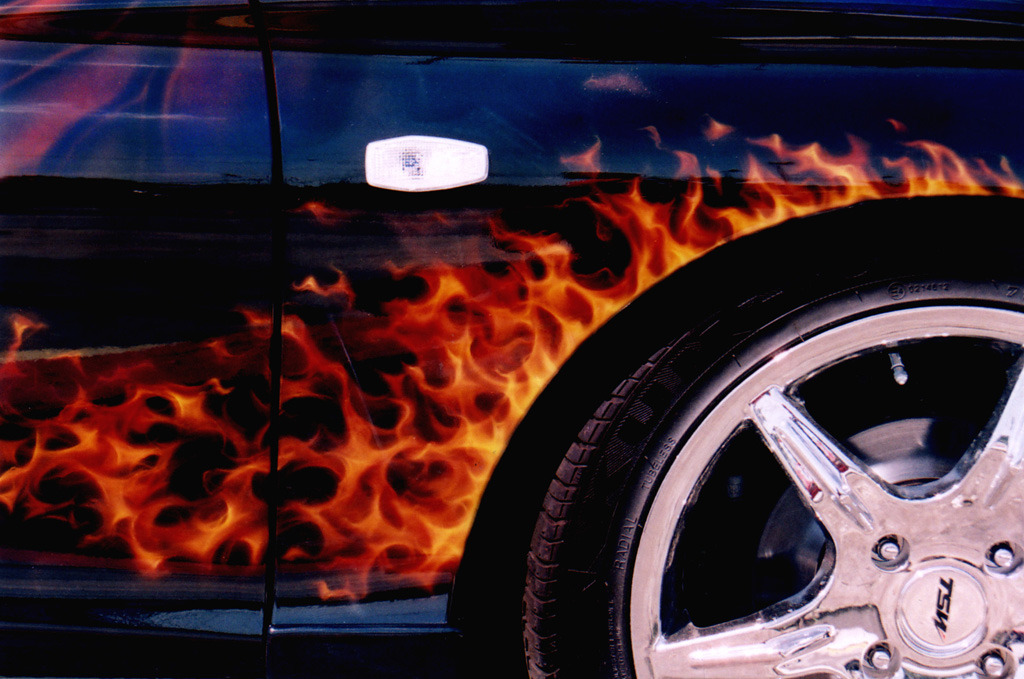 Dragon Car - Closeup of Flames