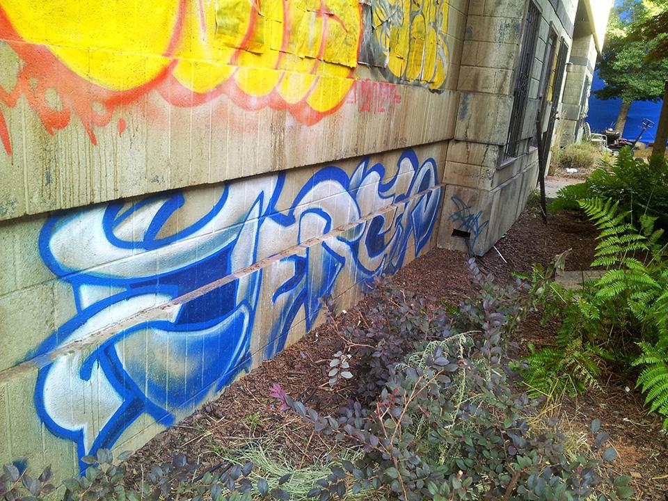 Grafitti on Tyler Perry studio set