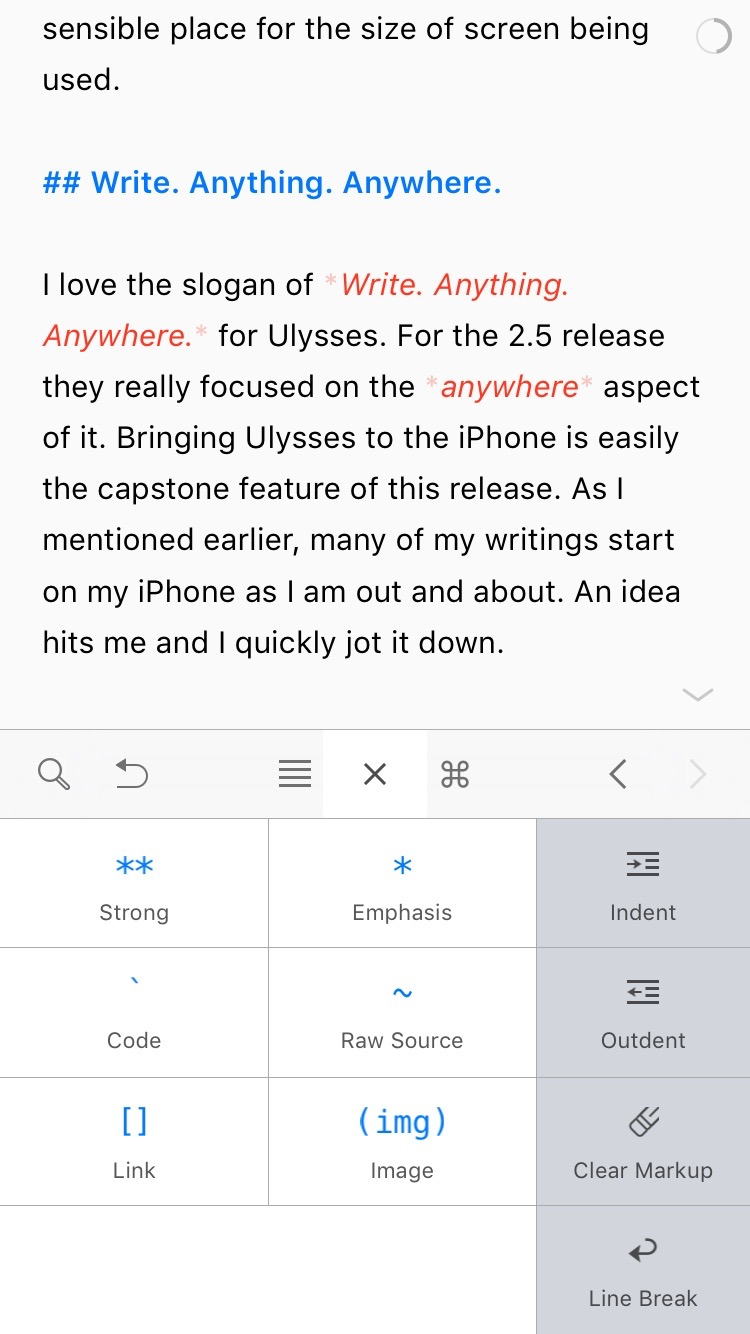 Inline Styling Shortcuts on iPhone