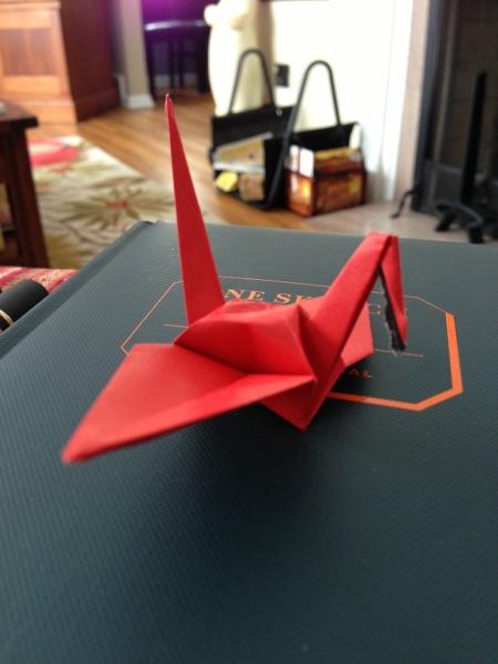 Origami crane: 1/1000