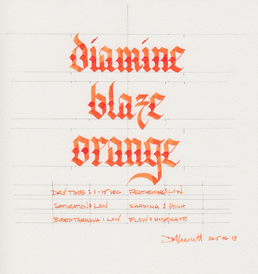 Diamine Blaze Orange. Click to embiggen.