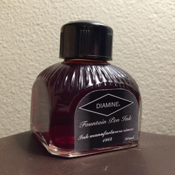 Diamine Blaze Orange bottle