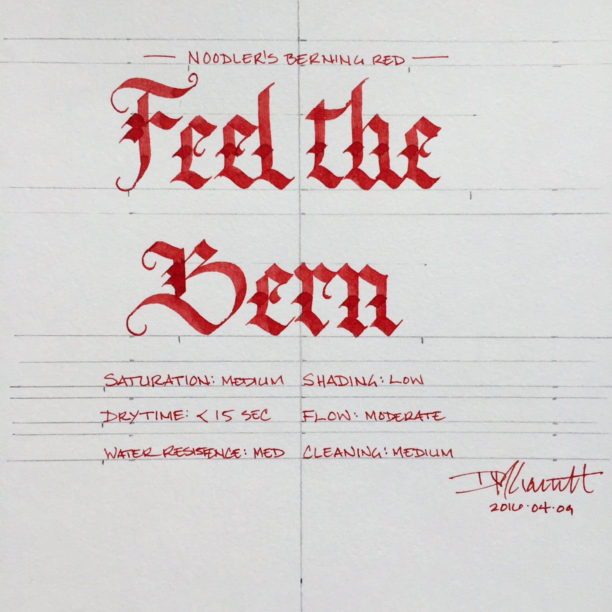 Noodler's Berning Red