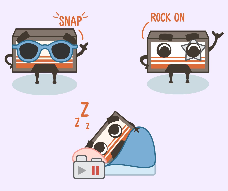 Lindsey.io - Max Cassette - Stickerly - Emoji