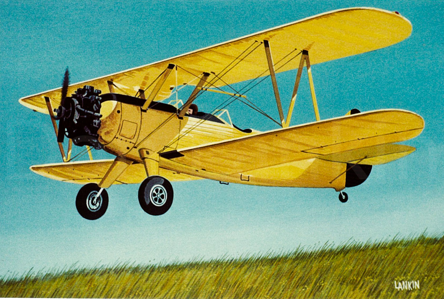 """The Yellow Bird"" Boeing-Stearman PY-13 Kaydet, the most widely used primary trainer of the US forces in WW II."