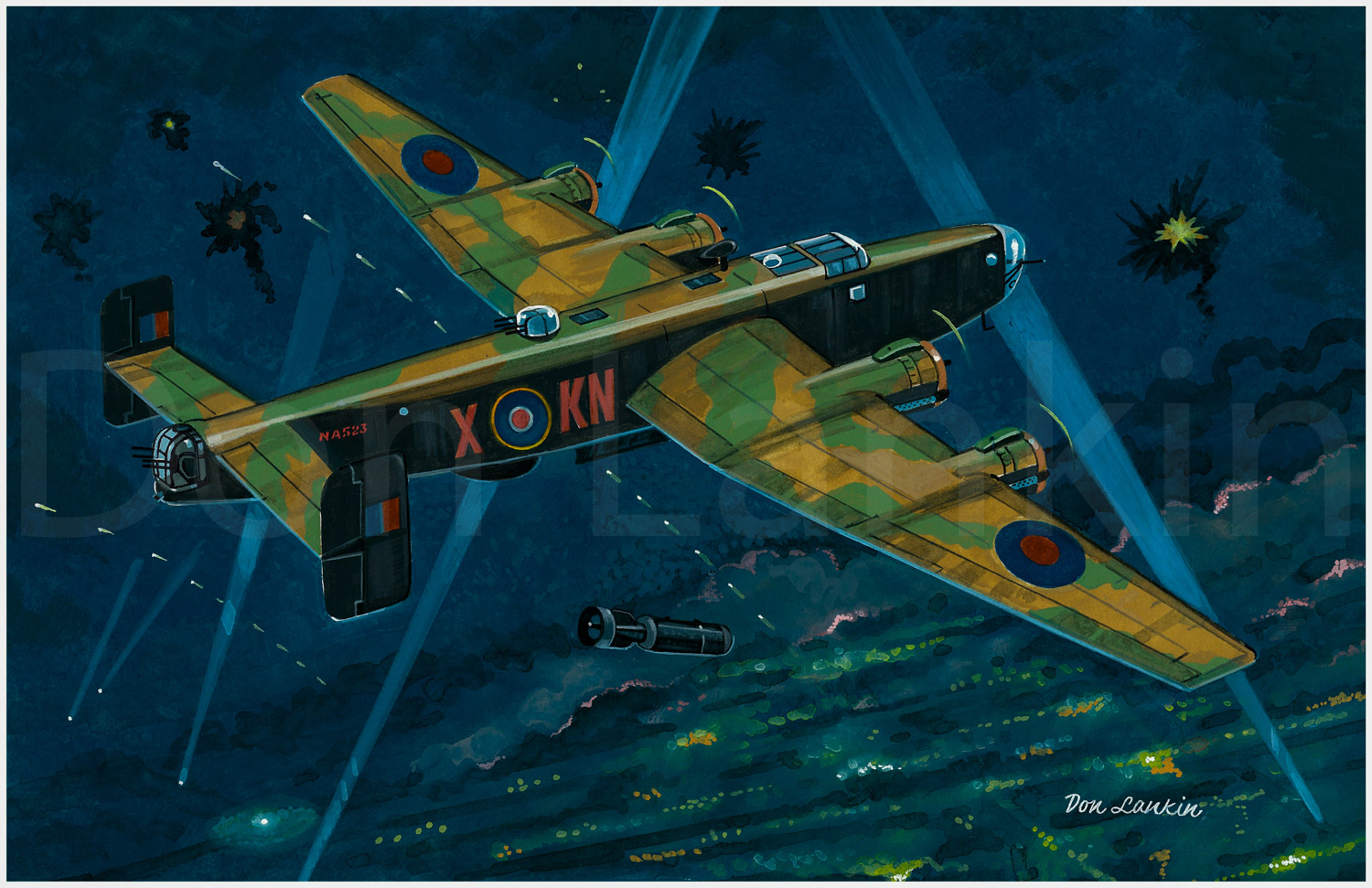 Handley Page Halifax Mk.III, KN-X, 77 Sqn. R.A.F. 4 Group