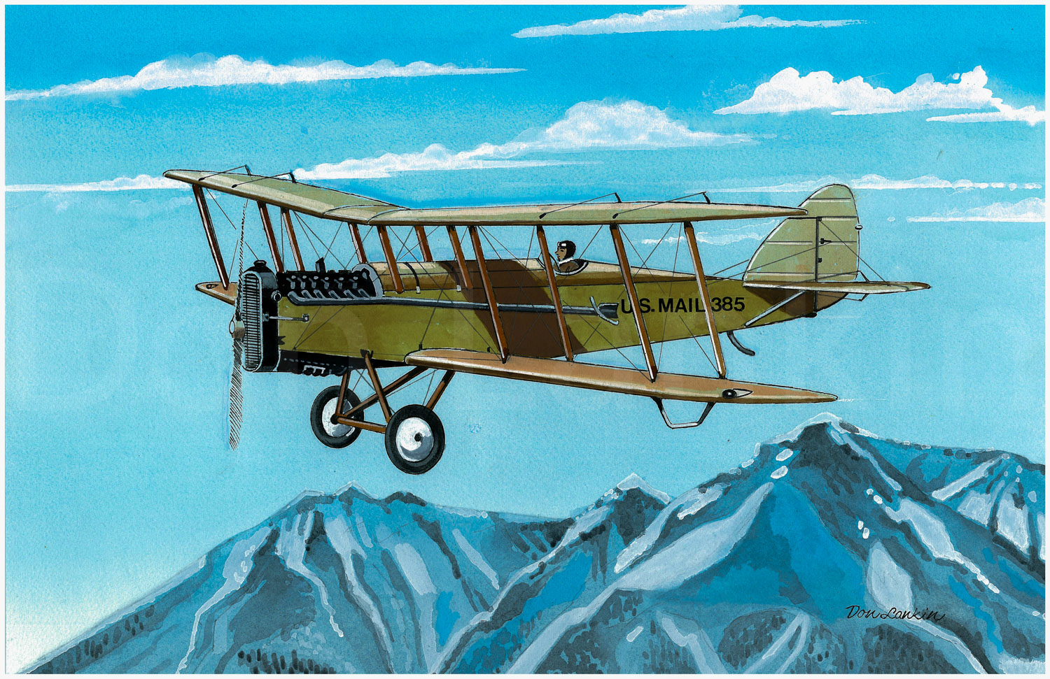 The de Havilland DH-4 joined the Air Mail Service in 1918.