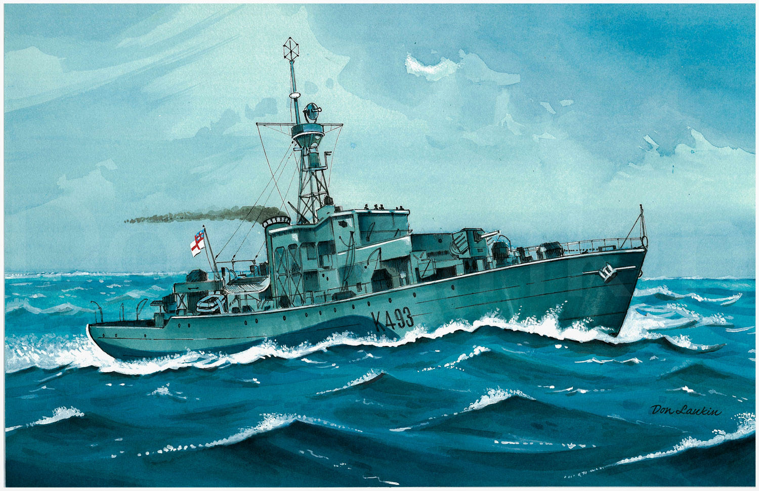 Castle Class Corvette K493 - H.M.C.S. Bowmanville - Builder Wm. Pickersgill & Sons Ltd. Launched January 26, 1944 - In commission September 28, 1944 to February 15, 1946
