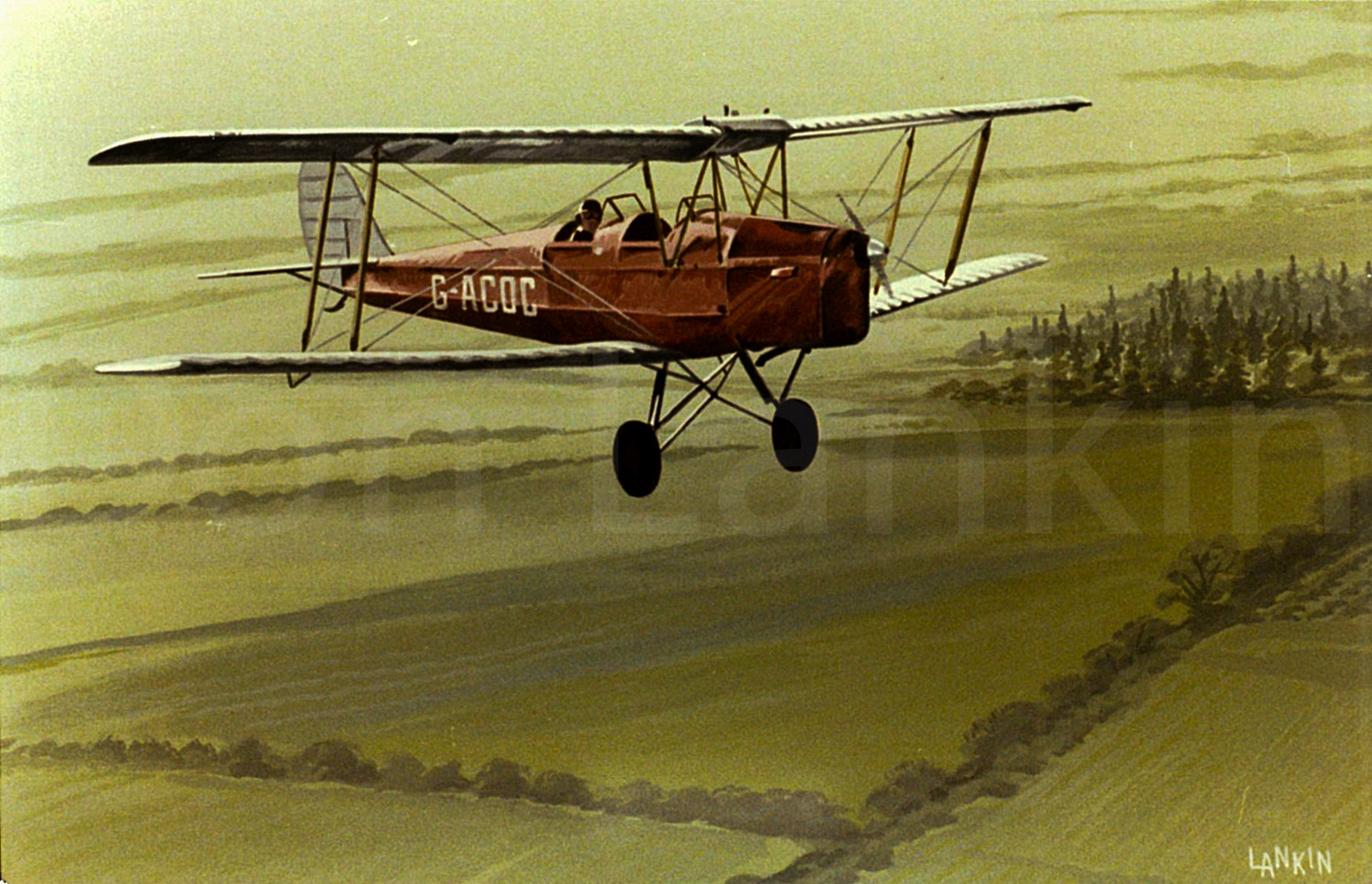 de Havilland Tiger Moth, a 1930's design. Over 8,800 were built. Many privately owned, are still  in use today.