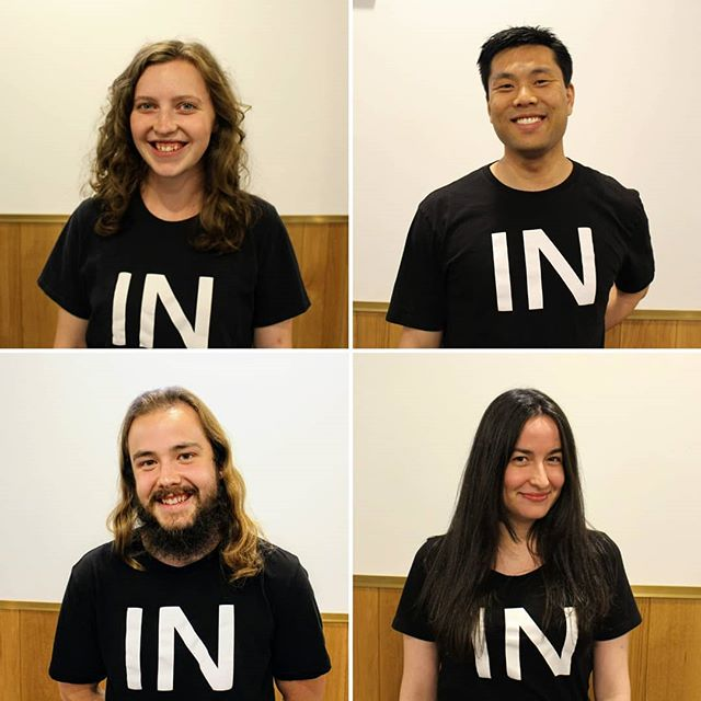 🙏Pray for our INterns this summer as they grow in faith, grasp the gospel, go on mission, and apply their faith in their workplaces. . In the photo: Laura (assisting INternship), David, Andrew, and Sarah. . More about INternship @internshipwccf