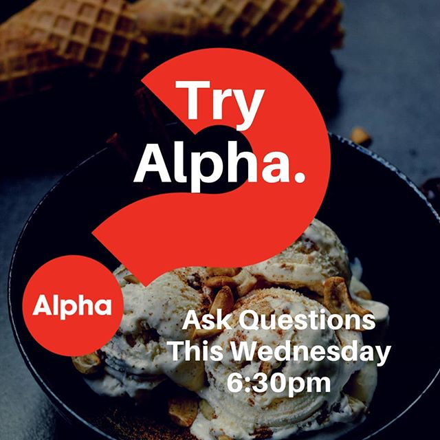 Enjoy good food ($5 dinner), an engaging video about life and faith, and discussion (all questions welcome) at 6:30pm Wednesdays (tonight!) 😀 At West Coast.